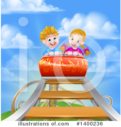 Roller Coaster Clipart #1400236 by AtStockIllustration