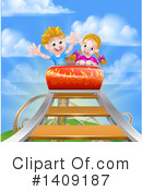 Royalty-Free (RF) Roller Coaster Clipart Illustration #1409187