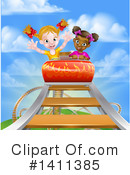 Royalty-Free (RF) Roller Coaster Clipart Illustration #1411385