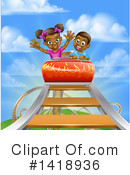Royalty-Free (RF) Roller Coaster Clipart Illustration #1418936