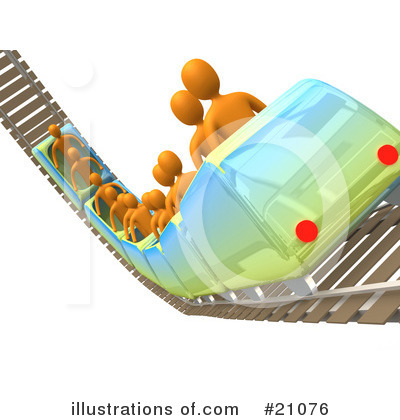Royalty-Free (RF) Roller Coaster Clipart Illustration by 3poD - Stock Sample #21076