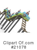 Roller Coaster Clipart #21078 by 3poD