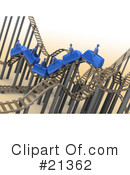 Roller Coaster Clipart #21362 by 3poD