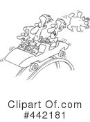 Royalty-Free (RF) Roller Coaster Clipart Illustration #442181