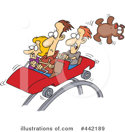 Royalty-Free (RF) Roller Coaster Clipart Illustration by toonaday - Stock Sample #442189
