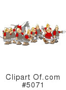 Royalty-Free (RF) Roman Army Clipart Illustration #5071
