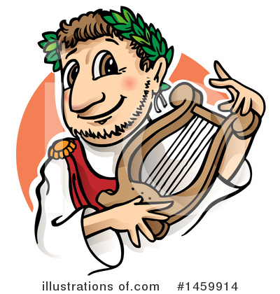 Lyre Clipart #1459914 by Domenico Condello