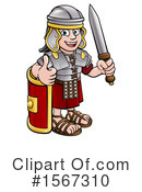 Roman Soldier Clipart #1567310 by AtStockIllustration