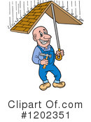 Roofer Clipart #1202351 by LaffToon