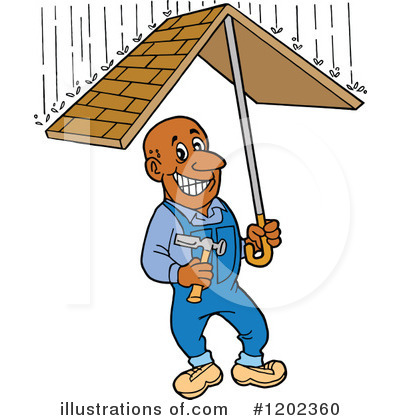 Roofing Clipart #1202360 by LaffToon