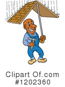 Roofer Clipart #1202360 by LaffToon
