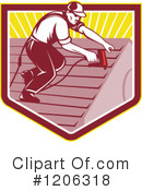 Roofer Clipart #1206318 by patrimonio