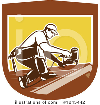 Roofing Clipart #1245442 by patrimonio
