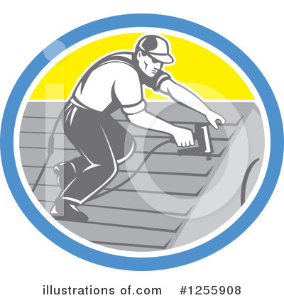 Roofing Clipart #1255908 by patrimonio