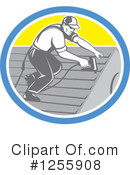 Roofer Clipart #1255908 by patrimonio