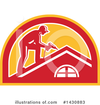 Roofing Clipart #1430883 by patrimonio