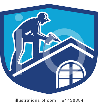 Roofing Clipart #1430884 by patrimonio