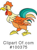 Royalty-Free (RF) Rooster Clipart Illustration #100375