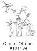 Rooster Clipart #101194 by Hit Toon