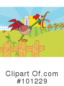 Royalty-Free (RF) Rooster Clipart Illustration #101229