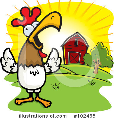 Rooster Clipart #102465 by Cory Thoman