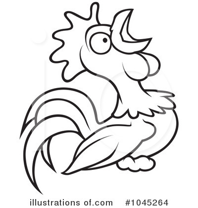Rooster Clipart #1045264 by dero