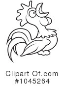 Royalty-Free (RF) Rooster Clipart Illustration #1045264