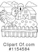 Royalty-Free (RF) Rooster Clipart Illustration #1154584