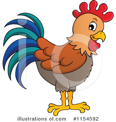 Royalty-Free (RF) Rooster Clipart Illustration by visekart - Stock Sample #1154592