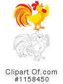 Rooster Clipart #1158450 by Alex Bannykh