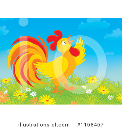 Rooster Clipart #1158457 by Alex Bannykh