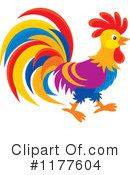 Rooster Clipart #1177604 by Alex Bannykh