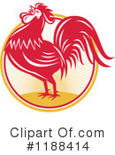 Royalty-Free (RF) Rooster Clipart Illustration #1188414
