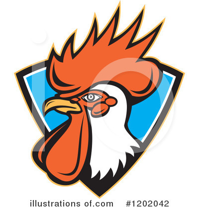 Rooster Clipart #1202042 by patrimonio