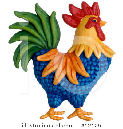 Royalty-Free (RF) Rooster Clipart Illustration by Amy Vangsgard - Stock Sample #12125