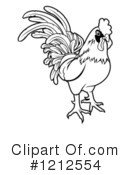 Rooster Clipart #1212554 by AtStockIllustration