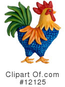 Rooster Clipart #12125 by Amy Vangsgard