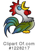 Royalty-Free (RF) Rooster Clipart Illustration #1228217