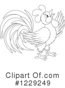 Rooster Clipart #1229249 by Alex Bannykh