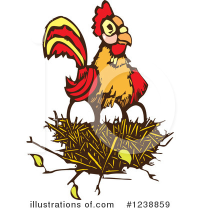 Royalty-Free (RF) Rooster Clipart Illustration by xunantunich - Stock Sample #1238859