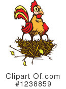 Royalty-Free (RF) Rooster Clipart Illustration #1238859