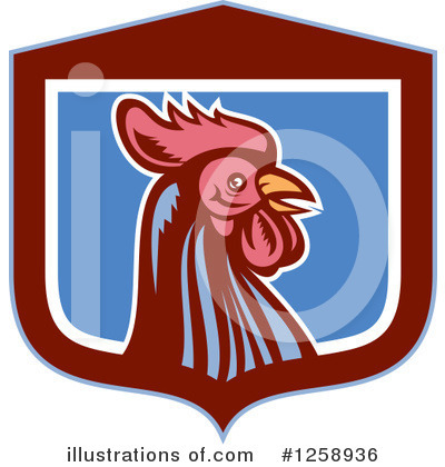 Royalty-Free (RF) Rooster Clipart Illustration by patrimonio - Stock Sample #1258936