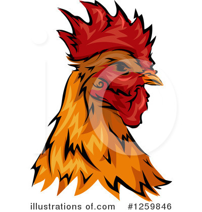 Royalty-Free (RF) Rooster Clipart Illustration by BNP Design Studio - Stock Sample #1259846