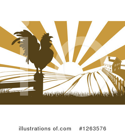 Royalty-Free (RF) Rooster Clipart Illustration by AtStockIllustration - Stock Sample #1263576