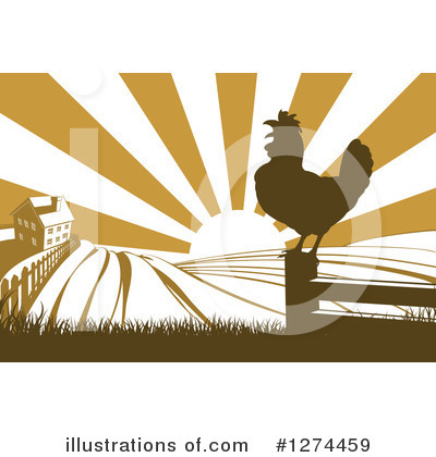 Rooster Clipart #1274459 by AtStockIllustration