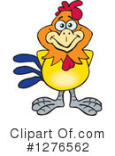 Royalty-Free (RF) Rooster Clipart Illustration #1276562