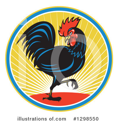 Royalty-Free (RF) Rooster Clipart Illustration by patrimonio - Stock Sample #1298550