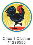 Royalty-Free (RF) Rooster Clipart Illustration #1298550