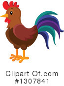 Royalty-Free (RF) Rooster Clipart Illustration #1307841