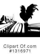 Rooster Clipart #1316971 by AtStockIllustration